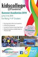 KidsCollege@Fluvanna 2019 Summer Academies Schedule